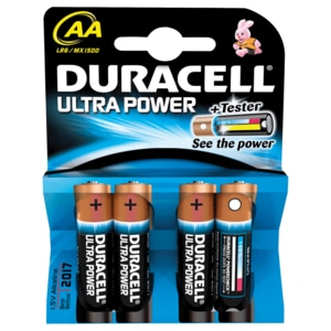 Duracell Ultra Power Mignon AA Batterien 4 Stück
