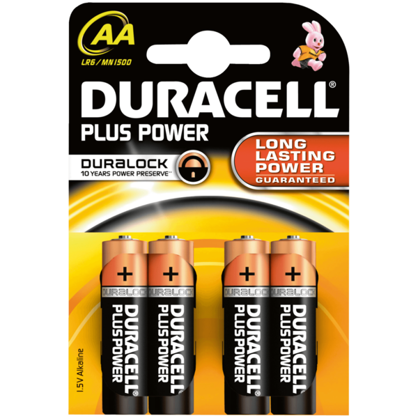Duracell Plus Power Batterien AA MN1500/LR6 4 Stück