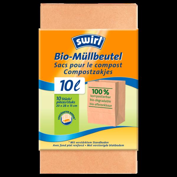Swirl Bio-Müll-Papierbeutel 10l, 10 Stück