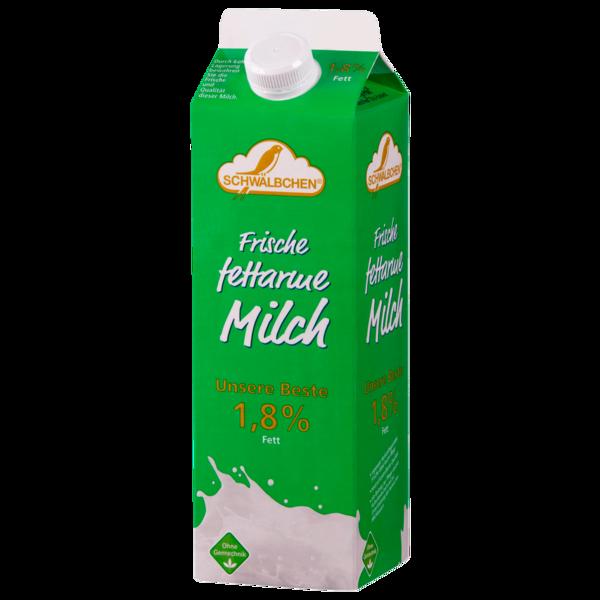 Schwälbchen Frische fettarme Milch 1,8% 1l