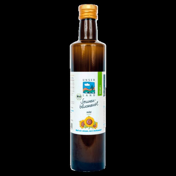 Unser Land Bio Sonnenblumenöl mild 0,5l