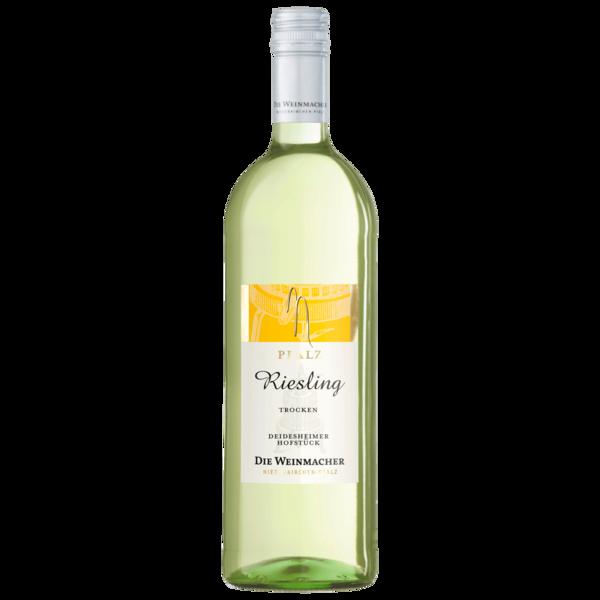 Die Weinmacher Weißwein Riesling Deidesheimer Hofstück trocken 1l