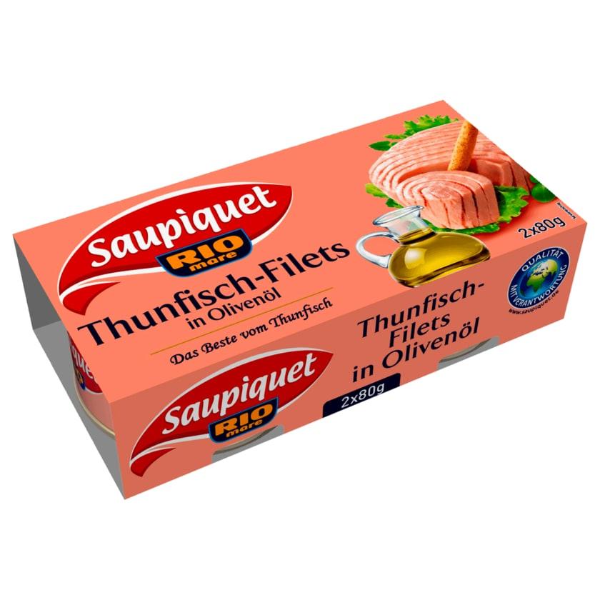 Saupiquet Thunfisch-Filets in Olivenöl 2x52g