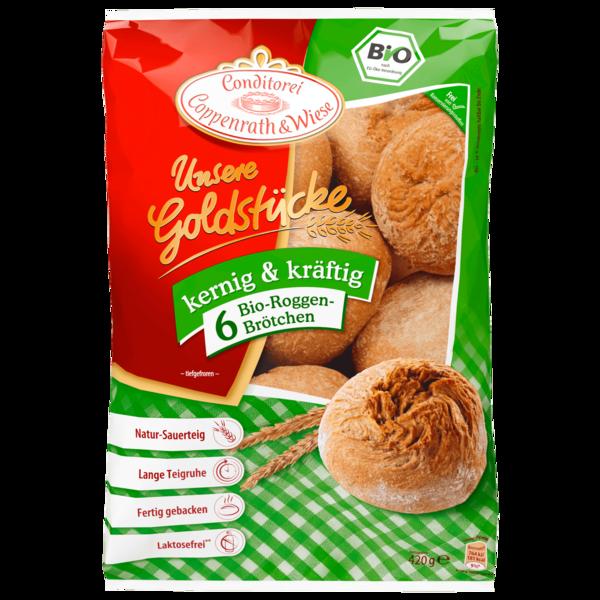 Coppenrath & Wiese Unsere Goldstücke Bio Roggenbrötchen 420g, 6 Stück