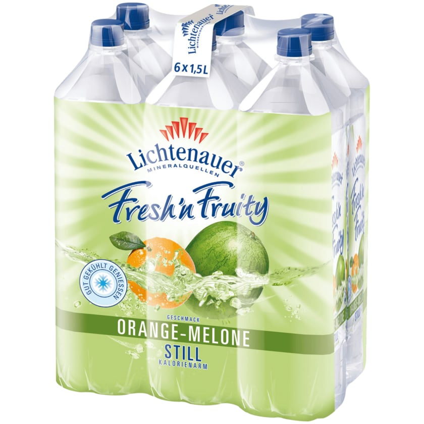 Lichtenauer Fresh'n Fruity Orange-Melone 6x1,5l