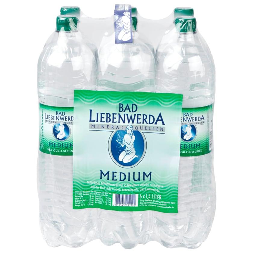 Bad Liebenwerda Mineralwasser Medium 6x1,5l