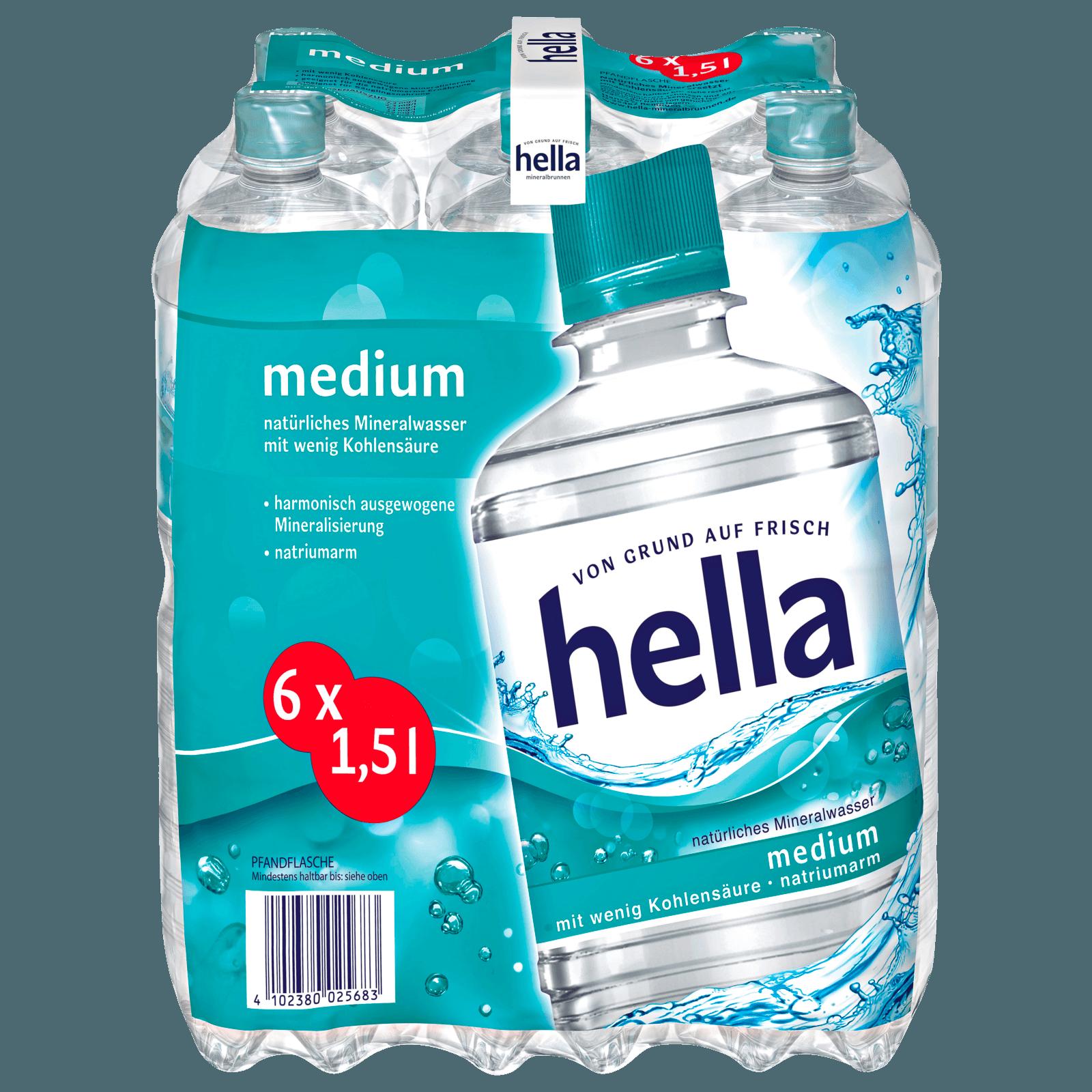 Hella Medium 6x1,5l bei REWE online bestellen! REWE.de