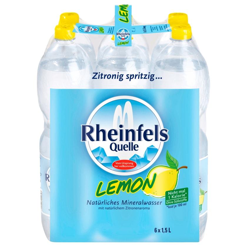Rheinfels Quelle Mineralwasser Lemon 6x1,5l