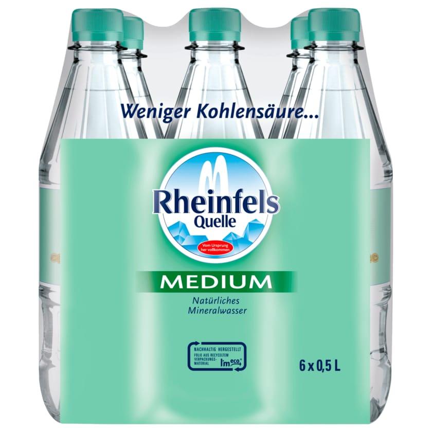 Rheinfels Quelle Mineralwasser Medium 6X0,5l