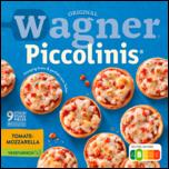 Original Wagner Pizza Steinofen Piccolinis Tomate-Mozzarella Vegetarisch Tiefgefroren 3 x 90g (270g)