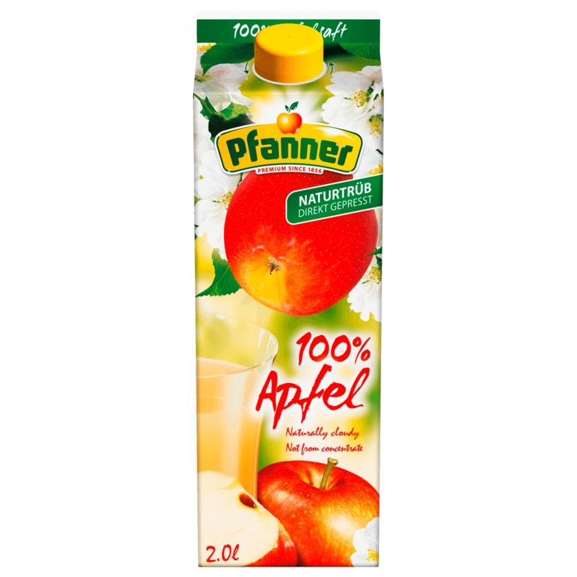Pfanner 100% Apfelsaft naturtrüb 2l