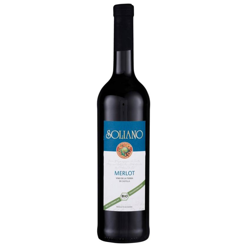 Soliano Bio Rotwein Merlot Vino De La Tierra trocken 0,75l