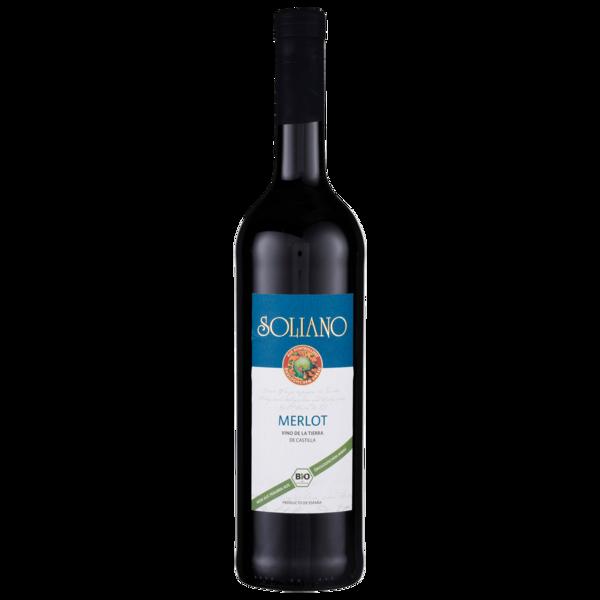 Soliano Rotwein Merlot Bio Vino de la Tierra de Castilla trocken 0,75l