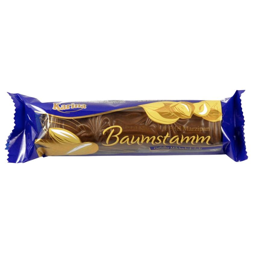 Karina Milchschokolade mit Marzipan Baumstamm 100g