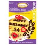 Günthart Back & Decor Schokoladen-Buchstaben & -Zahlen 44g