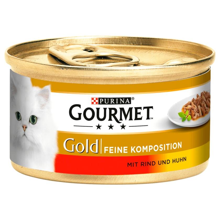 Gourmet Gold Feine Komposition mit Rind & Huhn 85g
