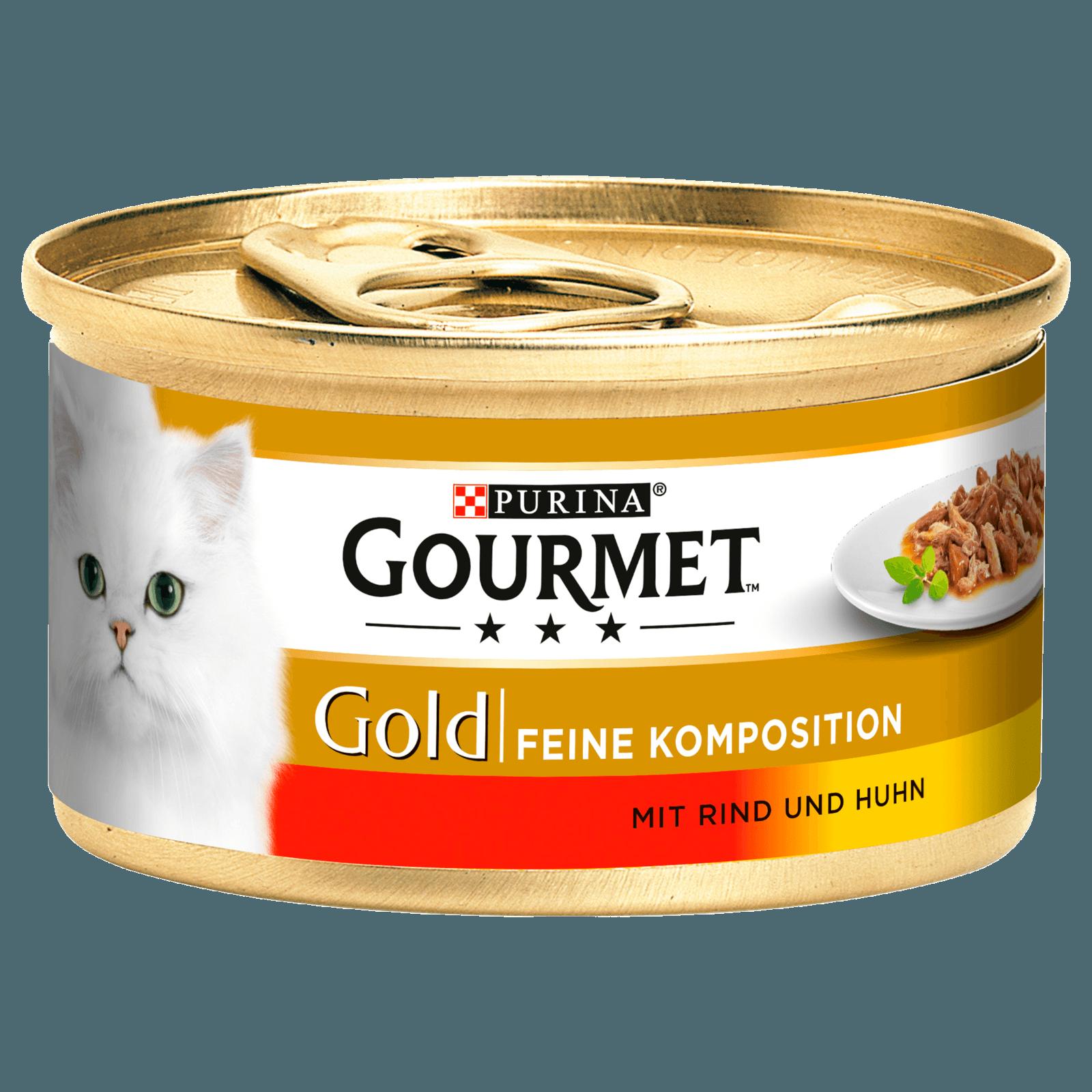 PURINA GOURMET GOLD Feine Komposition Rind&Huhn 85g