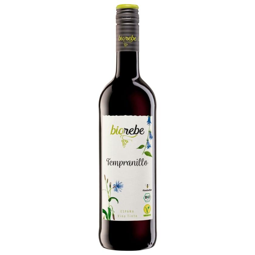 Biorebe Rotwein Tempranillo Spanien trocken 0,75l