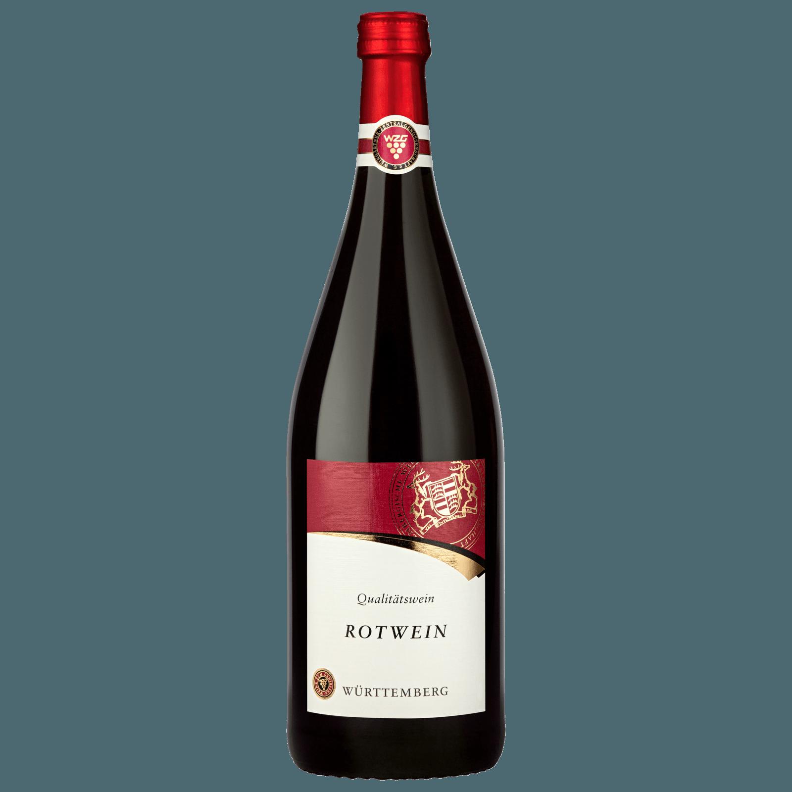 Württemberger Rotwein QbA halbtrocken 1l
