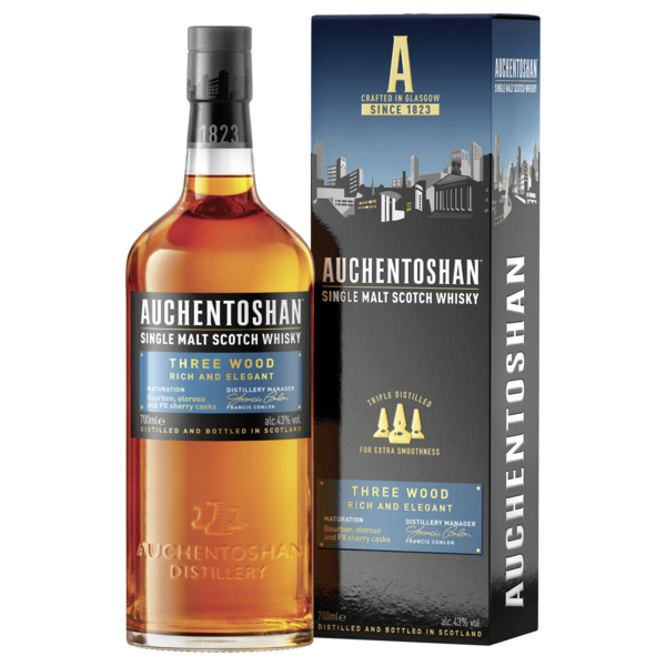 Auchentoshan Three Wood Single Malt Scotch Whisky 0,7l
