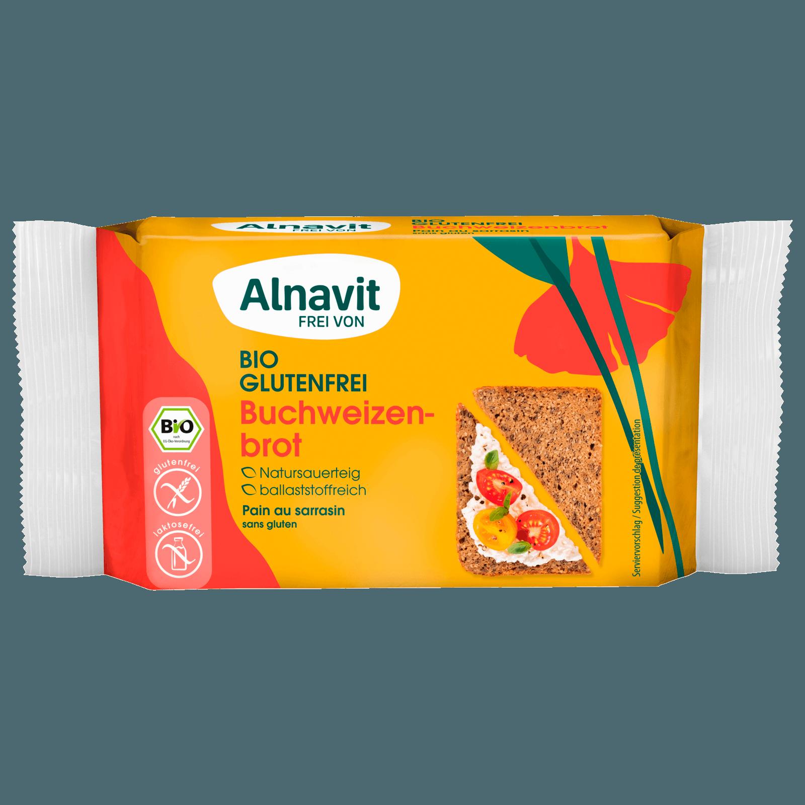 Alnavit Bio Buchweizenbrot glutenfrei 250g