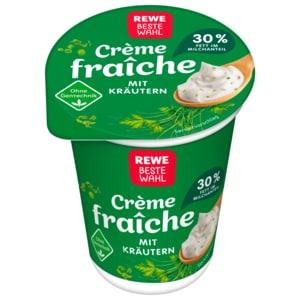 REWE Beste Wahl Crème fraîche mit Kräutern 200g