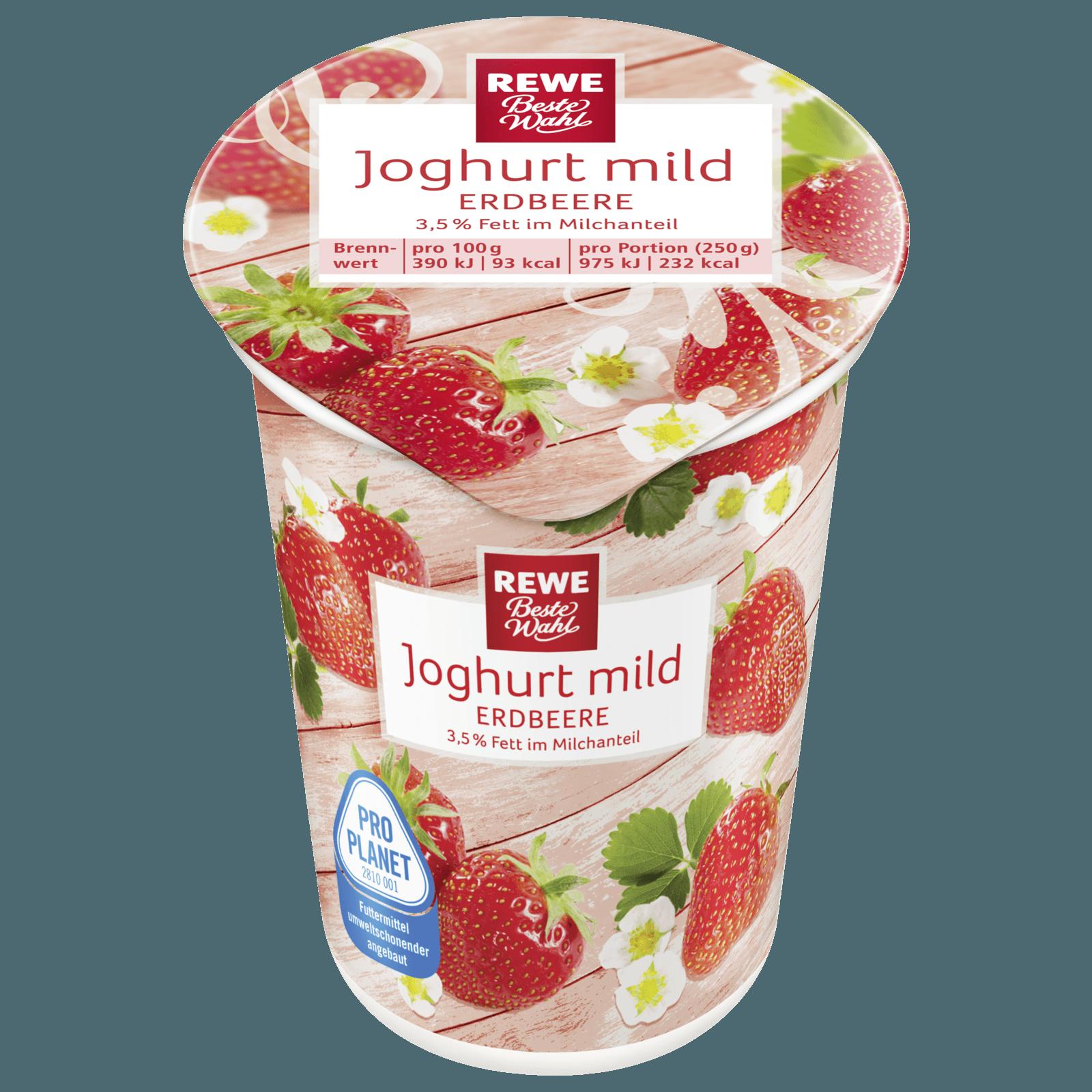 REWE Beste Wahl Joghurt mild Erdbeere 250g