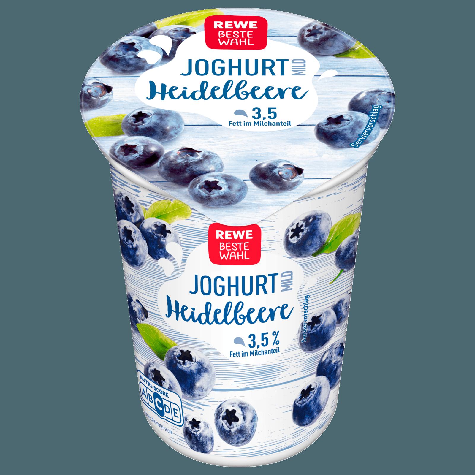 Joghurt mild mit 19 % Heidelbeerzubereitung, 3,5 % Fett im Milchanteil