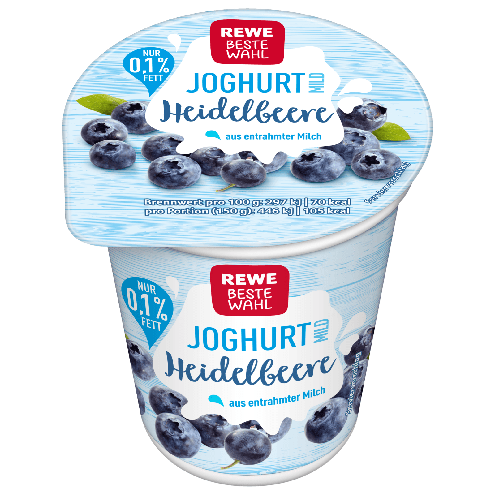 REWE Beste Wahl Fruchtjoghurt mild Heidelbeere 150g