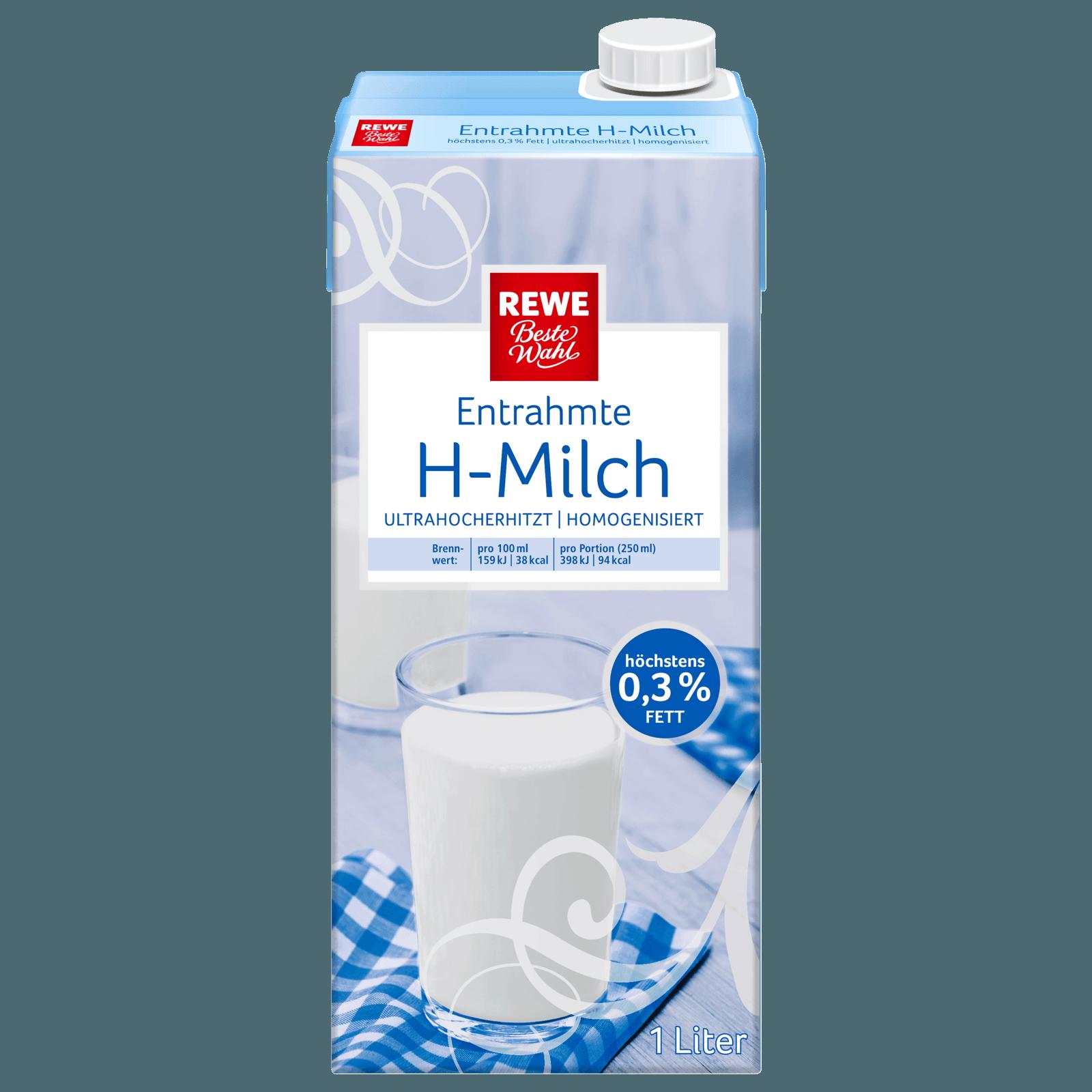REWE Beste Wahl H-Milch 0,3% 1l