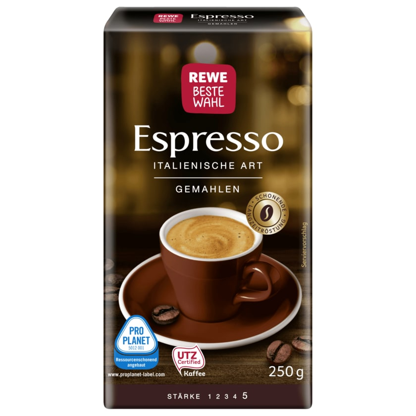 REWE Beste Wahl Espresso Italienische Art 250g