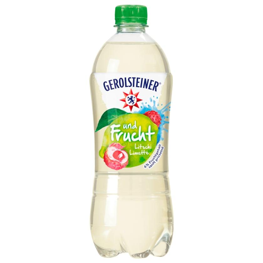 Gerolsteiner und Frucht Litschi Limette 0,75l
