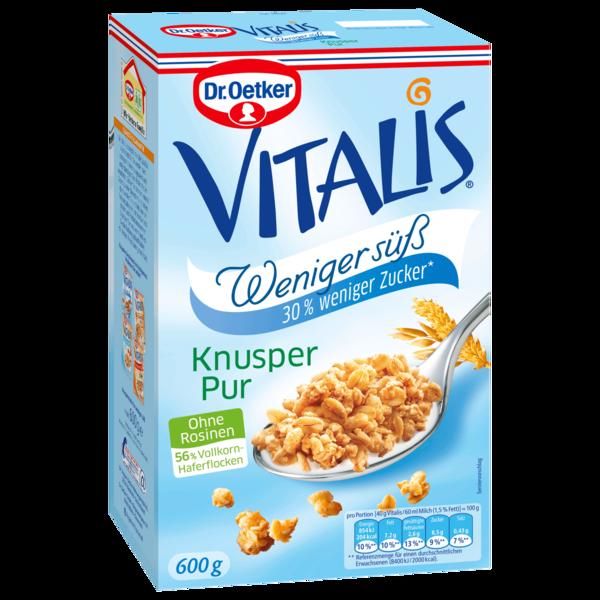 Dr. Oetker Vitalis Knusper Pur Weniger süß 600g
