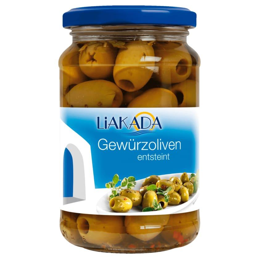 Liakada Grüne Gewürz-Oliven entsteint 170g