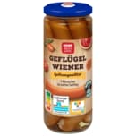 REWE Beste Wahl Geflügel-Wiener mit Rapsöl 250g, 5 Stück