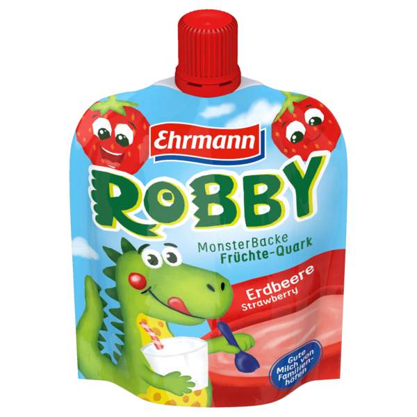 Ehrmann Monsterbacke Erdbeere 90g