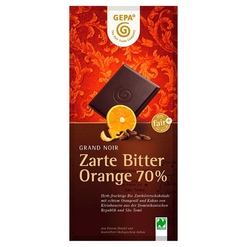 Gepa Bio Schokolade Grand Noir Zarte Bitter Orange 100g