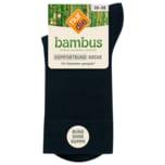 Nur die Damen Bambus Komfort-Socke schwarz 39-42