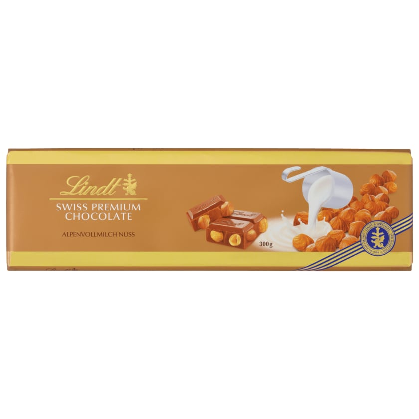 Lindt Schokolade Alpenvollmilch Nuss 300g