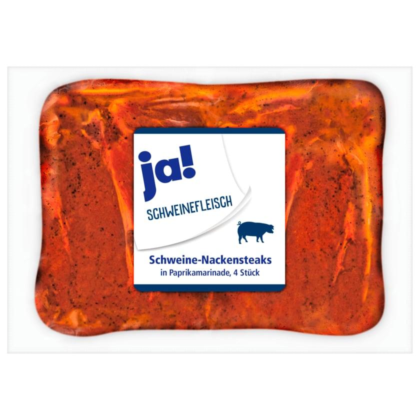 ja! Schweine-Nackensteak Paprika 4 Stück