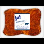 ja! Schweine-Nackensteak in Kräutermarinade 600g, 4 Stück
