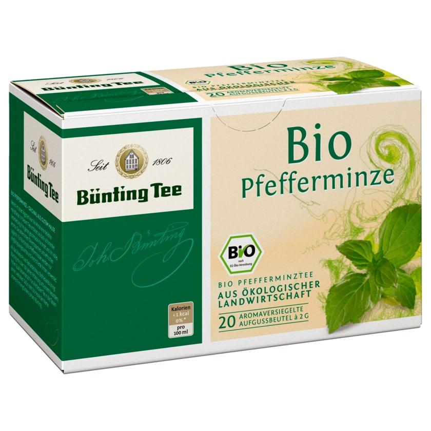 Bünting Tee Bio-Pfefferminze 40g, 20 Beutel