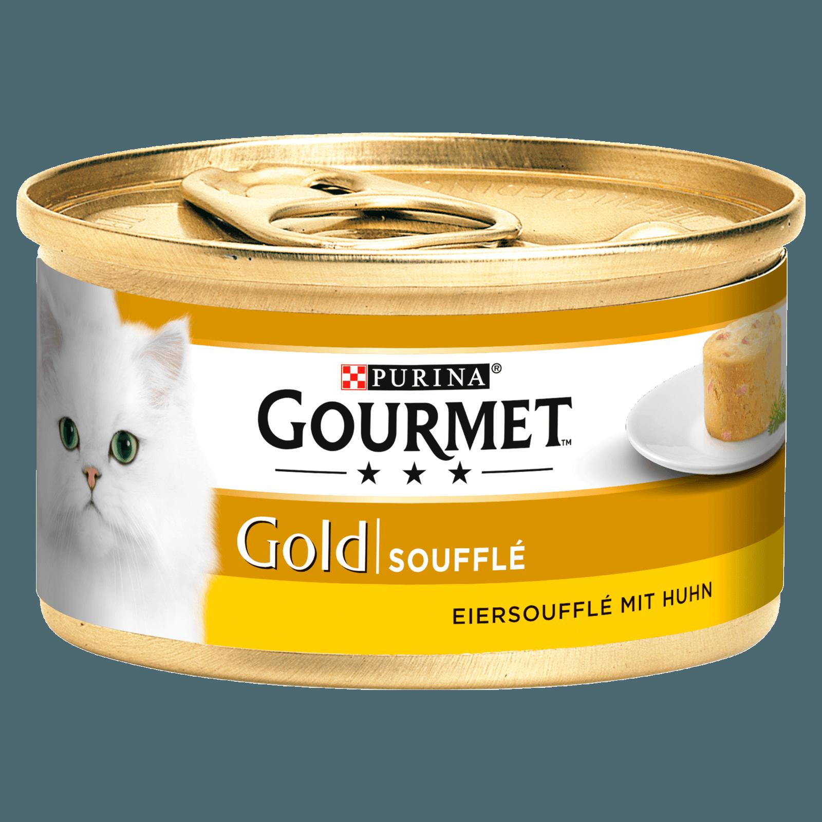 Gourmet Katzenfutter Gold Eiersoufflé mit Huhn 85g