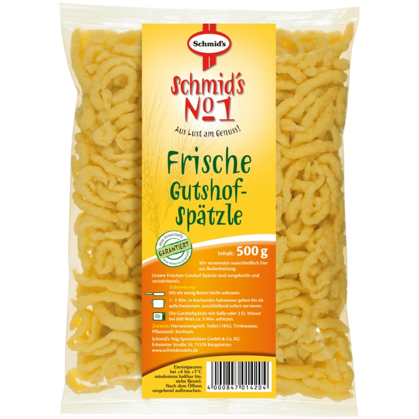 Schmid's No.1 Frische Gutshof-Spätzle 500g
