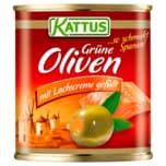 Kattus Spanische Grüne Oliven mit Lachscreme 85g