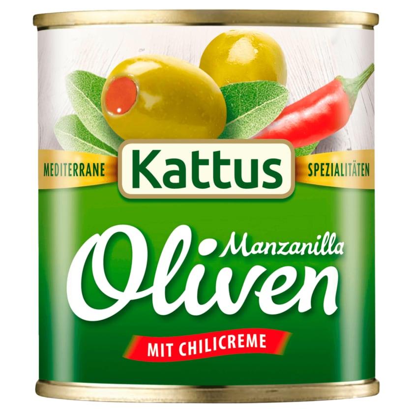 Kattus Spanische große Oliven mit Chilicreme 85g