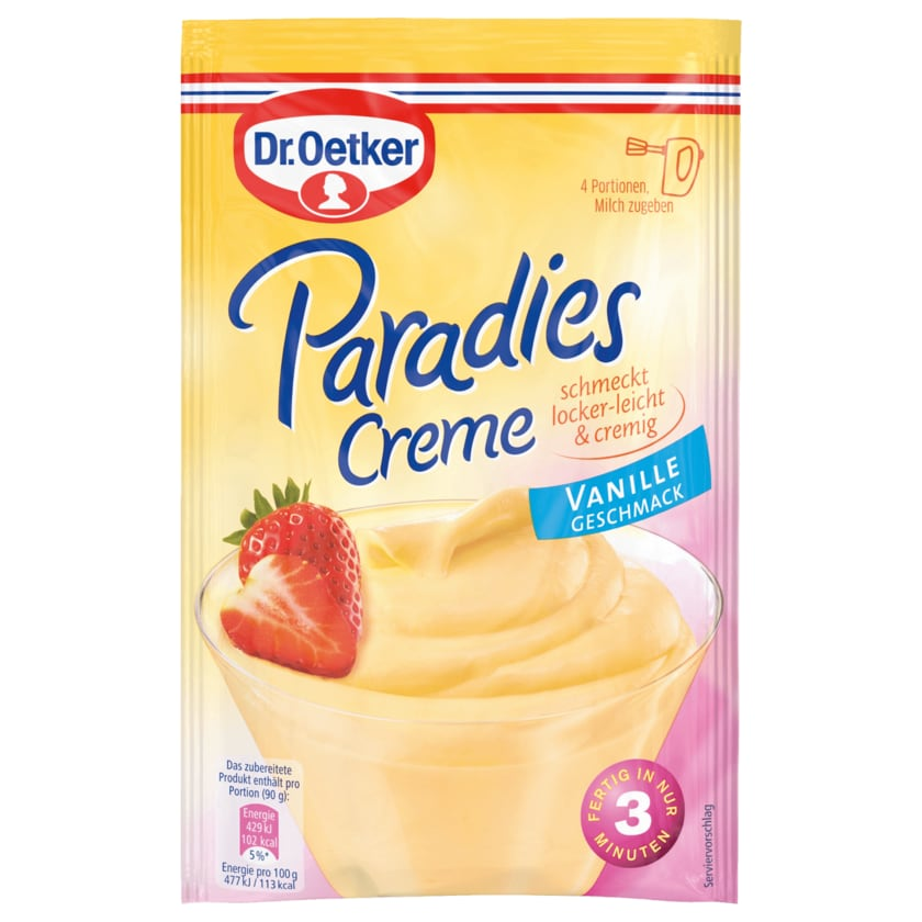 Dr. Oetker Paradies-Creme Vanille 60g