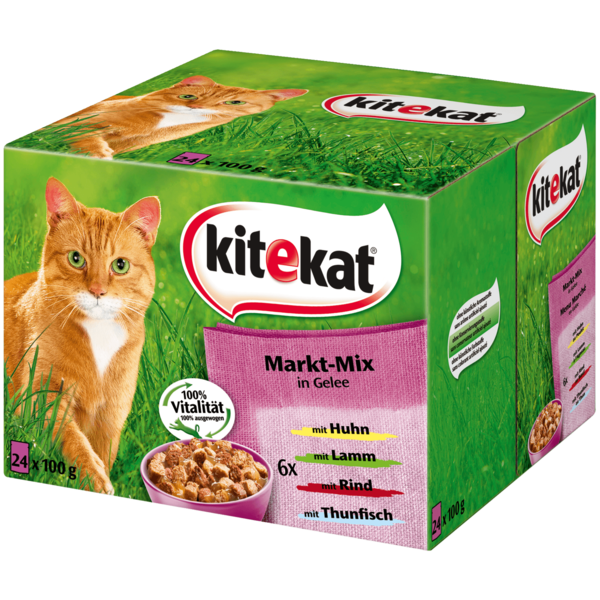 Kitekat Markt-Mix in Gelee 24x100g