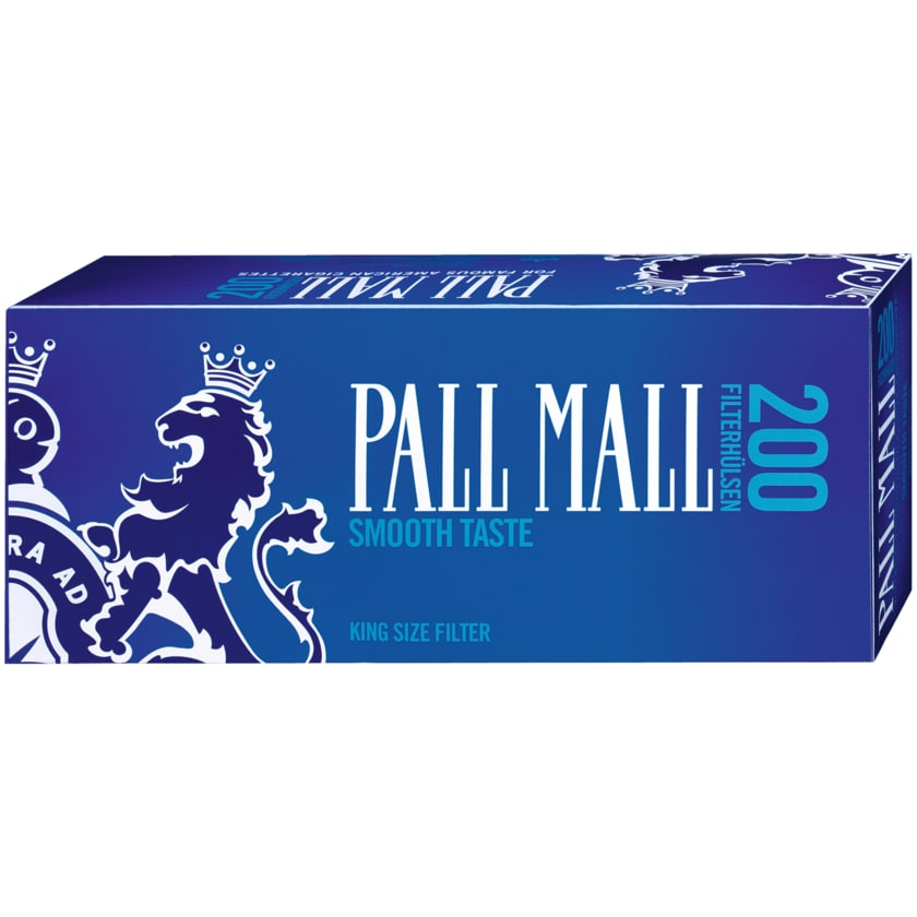 Pall Mall Smooth Taste Filterhülsen 200 Stück