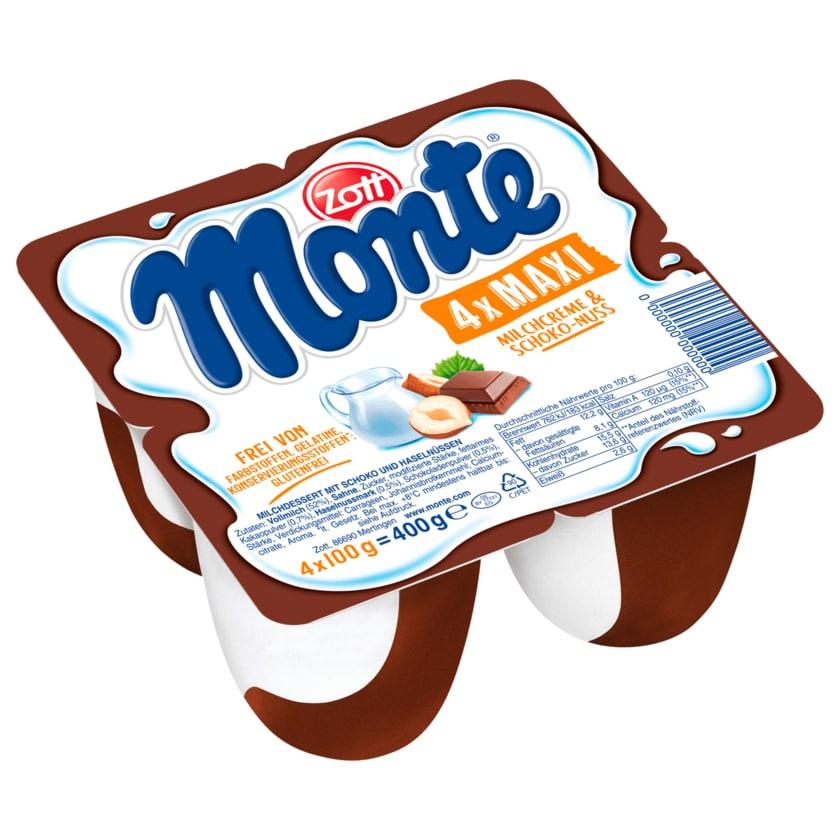 Zott Monte Maxi Schoko 4x100g